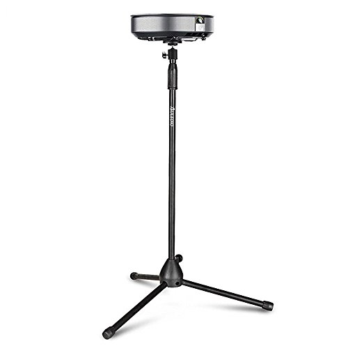 Auledio Portable Projector Stand,  Lightweight Projector Tripod Floor Stand Holder with 360° Swivel Ball Head and Adjustable Height (29.5