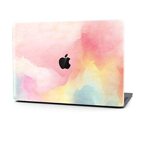 MacBook Air 13 inch Case 3D Effect Matte Clear See Through Hard Case Cover Only Compatible MacBook Air (2016/2017/2018 Mac Pro 13 (A1706/A1708/A1989), Rainbow Mist) ()