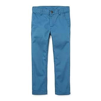 The Children's Place Big Boys' Skinny Uniform Chino Pants, Bluestone, 10