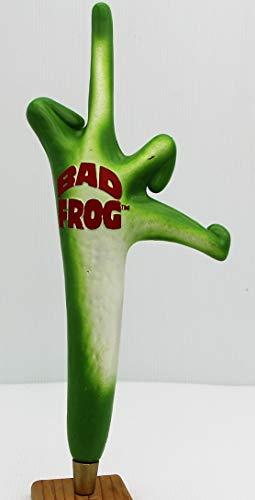 Bad Frog Beer Tap Handle frog finger resin 14.5