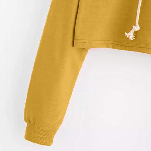 Sweats Pas Blouse Tumblr Cher Chemisier sans Court Bretelles Manches Femme Longues Sweatshirt Femme Automne Hiver Jaune Pull Capuche Femme Fille Oyedens Vetement Femme Ananas Hoodie dqxv1Odw