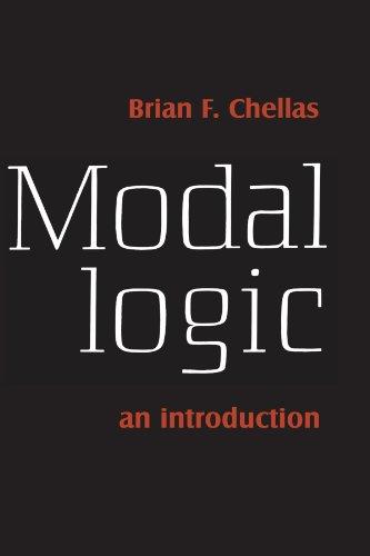 Modal Logic An Introduction