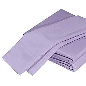 """DTY Bedding Premium Bamboo Sheets, Luxuriously Soft and Comfortable 4-Piece Sheet Set Fits Mattresses up to 18"""" Deep, 100% Bamboo Viscose - King, Amethyst"""