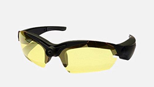 UltraByEasyPeasyStore POV Glasses W/ additional Yellow Lenses Action Video Camera 720p HD High Resolution sports glasses for outdoor use black (+8gb Micro SD - Recording Pivothead Sunglasses 1080p Video