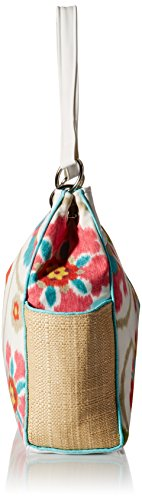 Caught Ya Lookin' Chic Diaper Bag, Teal Floral, Blue/Purple/White/Brown, One Size