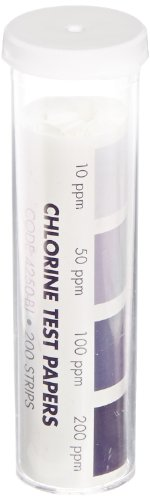 LaMotte Insta-Test 4250-BJ Chlorine Single Factor Test Strip, 10-200ppm Range (Pack of 200)