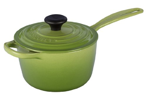 - Le Creuset Signature Cast Iron Saucepan, 1 3/4-Quart, Palm