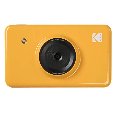 Digital Shoot Camera Point And Film (Kodak Mini Shot Wireless Instant Digital Camera & Social Media Portable Photo Printer, LCD Display, Premium Quality Full Color Prints, Compatible w/iOS & Android (Yellow))