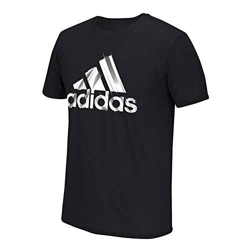 - adidas Men's Black Adi EQT More A Cuts Logo Climalite Performance T-Shirt (Medium)