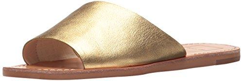 Dolce Vita Women's Cato Slide Sandal, Caramel Gold Leather