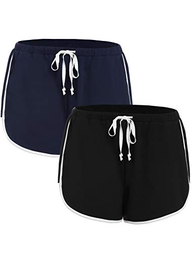 iClosam Dames Shorts Zacht Katoen Pyjama Bodems met Trekkoord Elastische Taille Running Sport Shorts met Zakken voor…