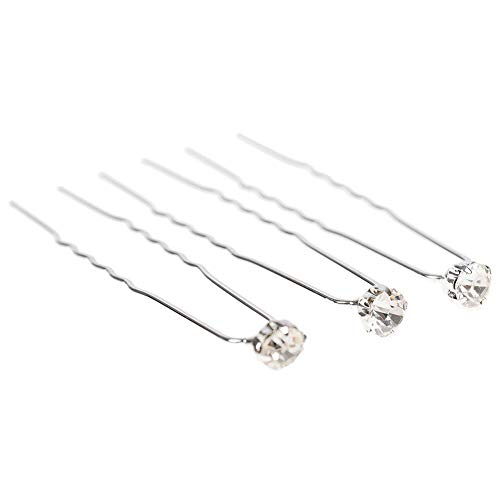 - Womens Girl Wedding Bridal Flower Crystal Hairpin Hair Pins Clips Lot (StyleID - #105-40pcs)