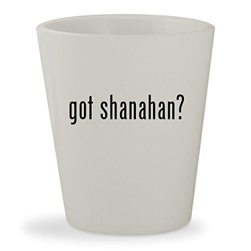 Got Shanahan    White Ceramic 1 5Oz Shot Glass