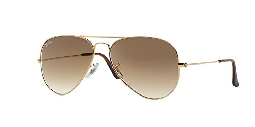 Ray-Ban Aviator 3025 RB 3025 001/51 58mm Gold Frame with Brown Gradient - Ray Ban 3025 Brown Gradient