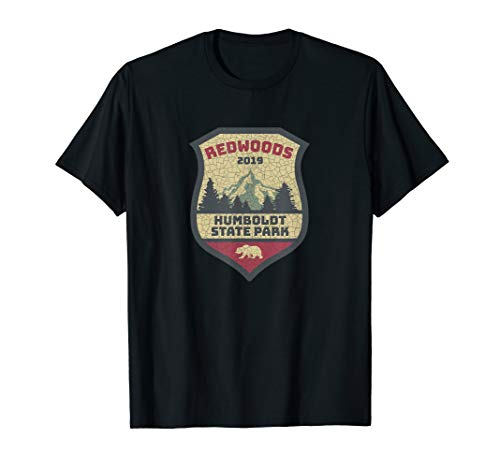 Humboldt Redwoods National Park Campground Vintage Sticker T-Shirt