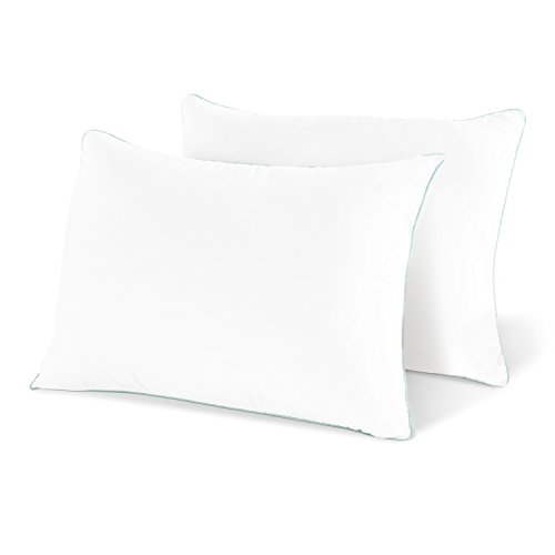 Coastal Comfort Gel Pillow (2-Pack) - Luxury Hotel Quality Plush Gel Fiber Pillow - Hypoallergenic & Dust Mite Resistant - Queen