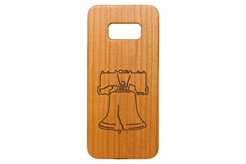 (NDZ Performance for Samsung Galaxy S8 Cherrywood Wooden Phone Case Custom Engraved - Liberty Bell)