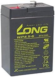 4,5Ah 6V Akku passend f/ür Johnlite CY-0112 6V 4,5Ah 20 HR AGM Blei Accu Battery