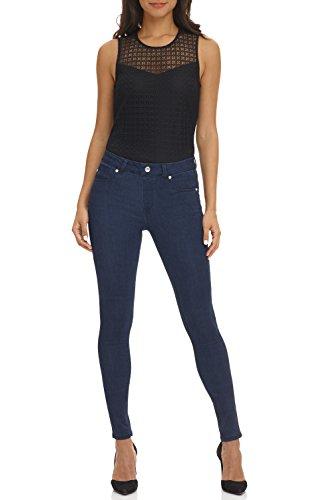 Midnight Rinse - Rekucci Women's Ease in to Comfort Super Soft 5 Pocket Denim Skinny Leg (2,Midnight Rinse)