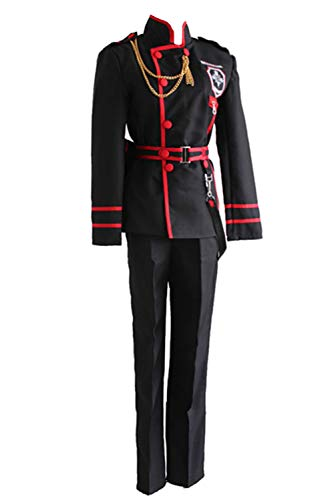 PartyCos Allen Walker Cosplay Costume Full Set with Wig Halloween Anime Costumes]()