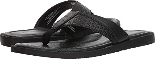 Sandals Aster Leather - Tommy Bahama Men's Anchors Astern Black 10 D US