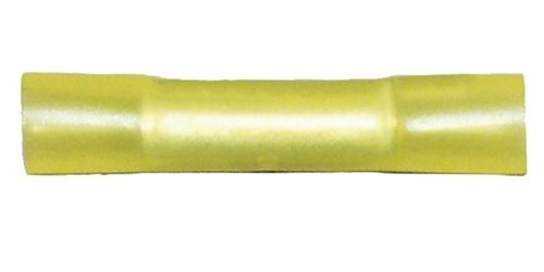 Quick Cable 164480-025 Guardian Heat Shrink Solderless Butt Connector, 12-10 Wire Gauge, Color, Rated 600V, 167° F, Copper, Yellow (Pack of 25) by Quick Cable (Image #1)