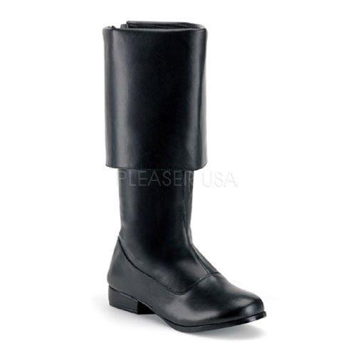 PIR-100 (XL 14, Black) Buccaneer Boots