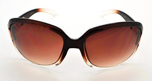 Vox tendance classique haute qualité pour femme Mode Hot Lunettes de soleil W/étui microfibre gratuit Brown/Clear Frame - Brown Lens