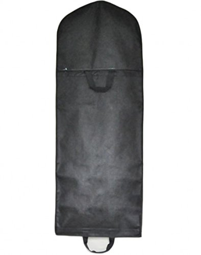 Beilite Wedding Dress Garment Bag Dust Cover Storage Travel Bag Black 70 inches