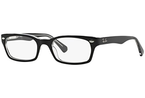 Ray Ban Optical Women's 5150 Black On Transparent Frame Plastic Eyeglasses, 50mm (Ray Ban Eyeglasses Made In Italy)