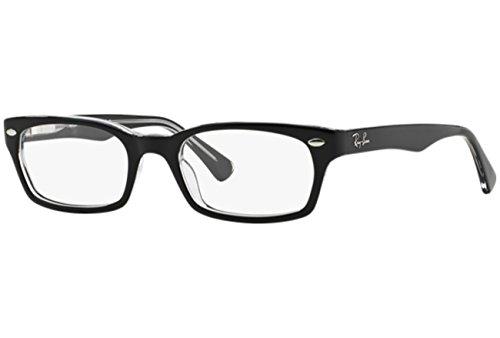 Ray Ban Optical Women's 5150 Black On Transparent Frame Plastic Eyeglasses, 50mm