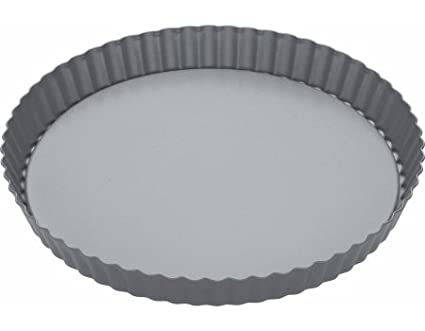 Quiche Tin with Loose Base 23cm K//Craft Non-Stick Round Flan Sleeved