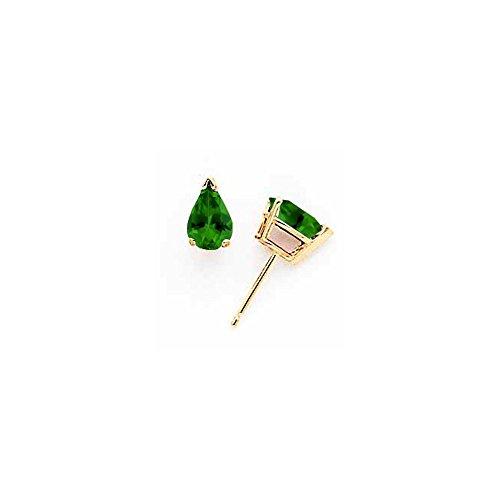 5mm 14k Green Tourmaline Earrings by JewelryWeb