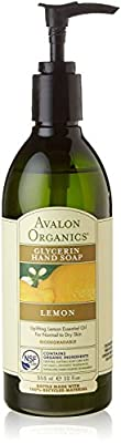 Avalon Organics Glycerin Hand Soap, Lemon, 3 Count