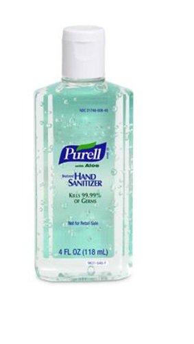 PURELL 9631CT Advanced Instant Hand Sanitizer w/Aloe, 4oz Flip-Cap Bottle (Case of 24)