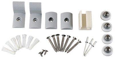 C.R. LAURENCE HP38BA CRL Brite Anodized Frameless Sliding Shower Door Hardware Package for 3/8