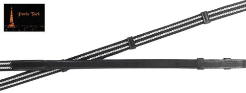 Soft Grip Reins - Derby Originals Sure Grip Flat Rubber/Web Reins, Black/Grey