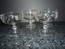 Set of 4 Princess House Crystal Heritage Champagne Goblets