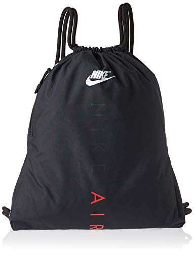 - Nike Heritage Gym Sack, Black/Black/University RED