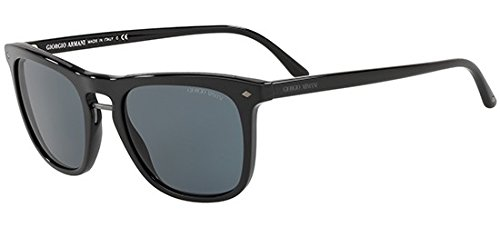 Giorgio Armani Mens Sunglasses Black/Blue Acetate - Non-Polarized - 53mm