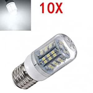 10X E27 3W White LED Light 48 SMD3528 Energy Saving Corn Bulb 200-240V
