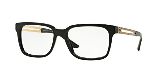 Versace VE3218 Eyeglass Frames GB1-55 - Black VE3218-GB1-55