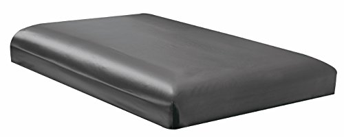 QUEEN size, Bridal SATIN Solid Dark Grey Fitted Bed Sheet - Super Silky & Soft - SALE - High Thread Count - 1500 Series-Wrinkle, Fade, Stain Resistant, Deep Pockets, 100% - Dark Gray Queen Sheets