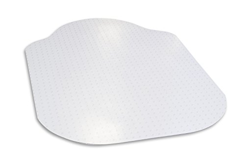 Evolve Modern Shape 39''x 52'' Clear Office Chair Mat With Lip For Low Pile Carpet, Made in the USA By Dimex, Phthalate Free, C5C5001G by Dimex