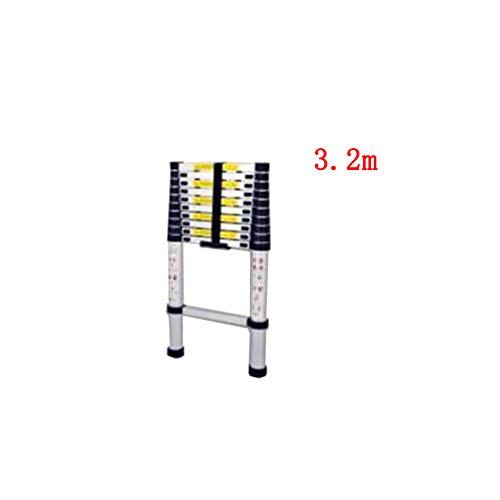 (QARYYQ Telescopic Ladder Single-Sided Family Bamboo Section Up and Down Ladder Engineering Loft Straight Ladder Aluminum Alloy Step Stool (Size : 3.2m))