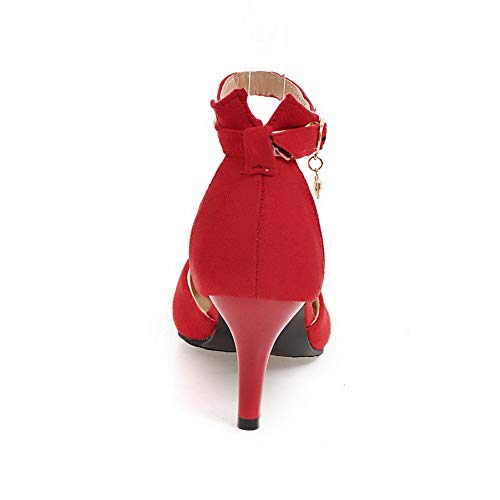 Inconnu 1TO9 Femme MJS03577 Compensées Sandales Red ArTABxqd