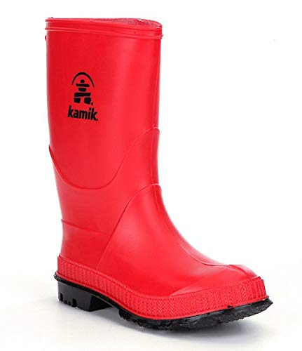 Kamik STOMP/KIDS/PUR/4149F Rain Boot Red,1 M US Big Kid