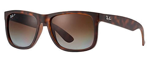 RB Justin Sunglasses (55 mm, Matte Tortoise Frame Polarized Brown - Ban Justin Ray Tortoise