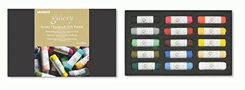 (Mungyo Gallery Handmade Soft Pastel Set of 15 - Assorted Colors )