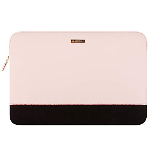 Comfyable Laptop Sleeve for 13-13.3 Inch MacBook Pro & MacBook Air- Waterproof Cover Notebook Computer Case for Mac- Pink & Black